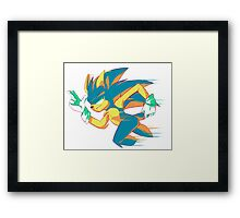 TOO SLOW Framed Print