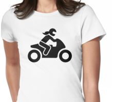 Motorcycle woman Womens Fitted T-Shirt