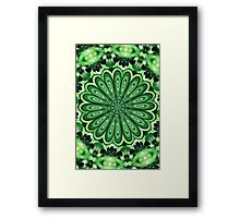 Mystery Green Puzzle Framed Print