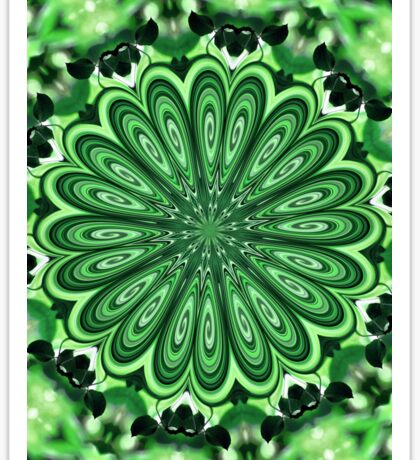Mystery Green Puzzle Sticker