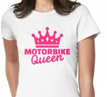 Motorbike queen Womens Fitted T-Shirt