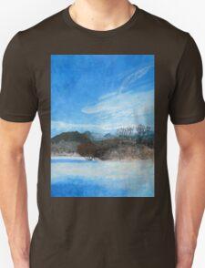 Blue Landscape Acrylic Painting Unisex T-Shirt