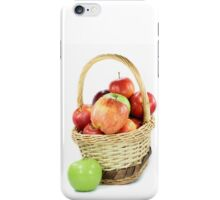 Fall apples assorts in basket iPhone Case/Skin