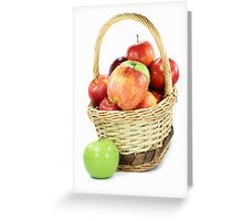 Fall apples assorts in basket Greeting Card