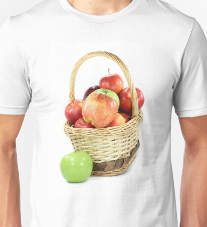 Fall apples assorts in basket Unisex T-Shirt