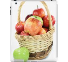 Fall apples assorts in basket iPad Case/Skin
