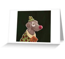 weimaraner Greeting Card
