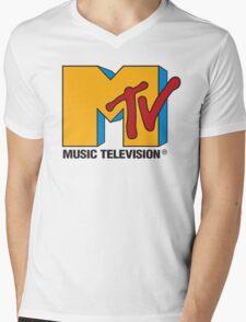 MTV 90's Logo Mens V-Neck T-Shirt