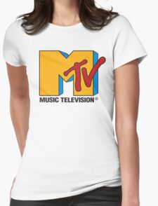 MTV 90's Logo Womens Fitted T-Shirt