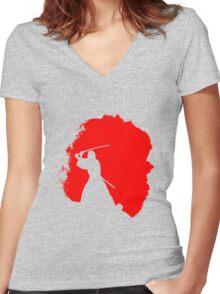 Samuraï Women's Fitted V-Neck T-Shirt