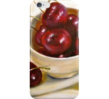 Still Life in Red and White...Cherries.. iPhone Case/Skin