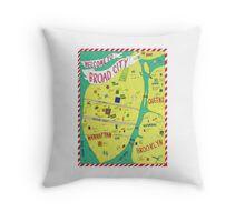 Broad City Map Throw Pillow