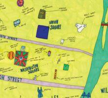 Broad City Map Sticker