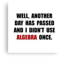 Algebra Once Canvas Print