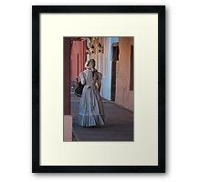 Tombstone Maiden. Tombstone, Arizona, USA. Framed Print