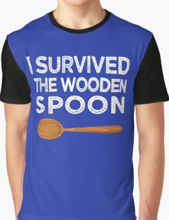 I survived the Wooden Spoon Funny Birthday Gift Graphic T-Shirt