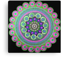 Black and Green Mandala Canvas Print