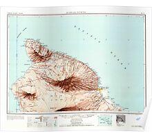 USGS TOPO Map Hawaii HI Hawaii North 349921 1961 250000 Poster