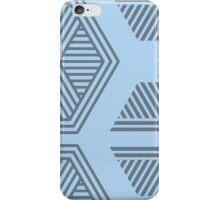 Halftone Pattern Blue iPhone Case/Skin