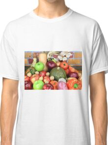 Vegetables and Fruits. Classic T-Shirt
