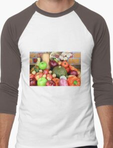 Vegetables and Fruits. Men's Baseball ¾ T-Shirt