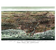The city of Chicago-1892 Photographic Print