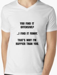 Offensive Happy Mens V-Neck T-Shirt