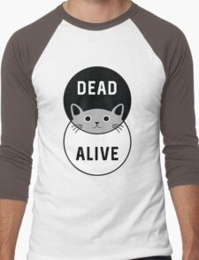 Schrodinger's Cat: Dead or Alive! Men's Baseball ¾ T-Shirt
