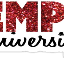 Temple University Glitter Sticker