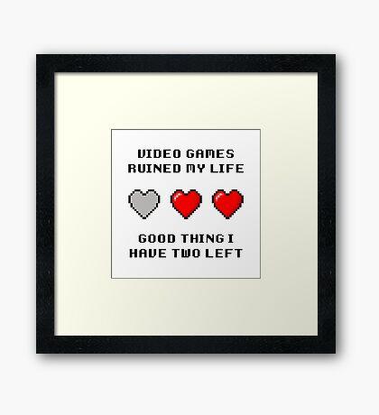 Video Game Life Framed Print