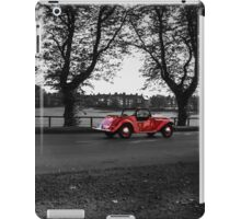 Vintage Red Car on monochrome iPad Case/Skin