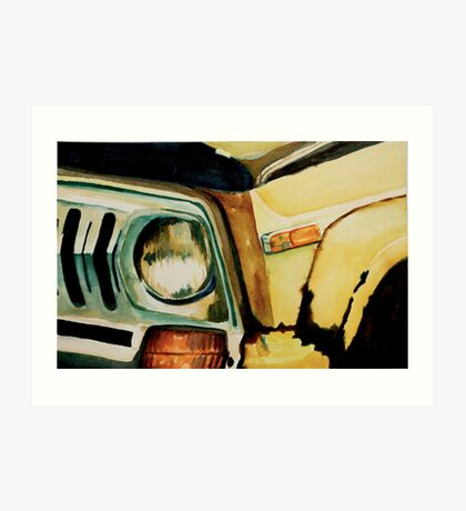 Car Headlight Art Print