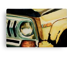 Car Headlight Canvas Print