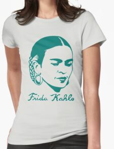 Frida Kahlo w/ Real Signature Digitized Womens Fitted T-Shirt