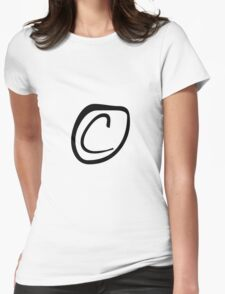 Copyright (sticker) Womens Fitted T-Shirt