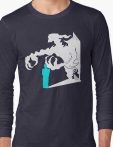 Evil inside turquoise Long Sleeve T-Shirt