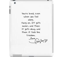 Taylor Swift Handwritten Quote iPad Case/Skin