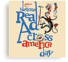 Real Read Cross America Seuss Canvas Print