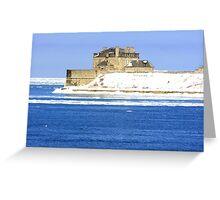 Main Building of Niagara Fort USA. Greeting Card