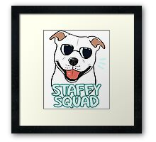 STAFFY SQUAD (white) Framed Print