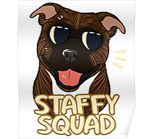 STAFFY SQUAD (brindle) Poster