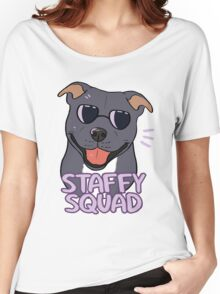 STAFFY SQUAD (blue) Women's Relaxed Fit T-Shirt