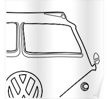 VW Bus Gregarious Poster