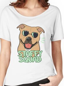 STAFFY SQUAD (red) Women's Relaxed Fit T-Shirt