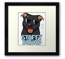 STAFFY SQUAD (black) Framed Print