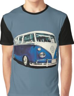 VW Bus Cool Blue Graphic T-Shirt