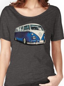 VW Bus Cool Blue Women's Relaxed Fit T-Shirt
