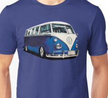VW Bus Cool Blue Unisex T-Shirt