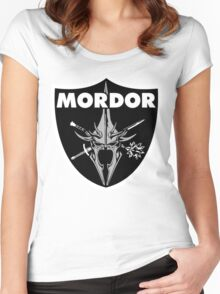 Mordor Badge Women's Fitted Scoop T-Shirt