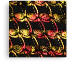 Army of misfits in red and yellow Canvas Print